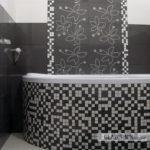 Okrągła obudowa wanny w mozaice 2,5x2,5cm, płytki ścienne i dekory Paradyż