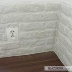 Cegiełka gipsowa, imitacja cegły, biała
