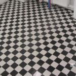 Płytki podłogowe 9x9cm, szachownica, fuga 0,5mm